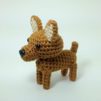 Miniature Pinscher Stuffed Animal Amigurumi Dog Crochet Dog / Made to Order