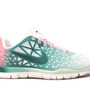Nike Wmns Free TR Fit 3 DYE White Dark Atomic Teal Pink (555170-100) (8.5 B(M) US): Shoes