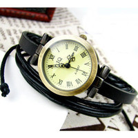 BRACELET BRAIDED RETRO LADY WATCH [