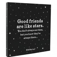 Good Friends are Like Stars Canvas