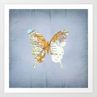 Butterfly - Tokio Art Print by Steffi Louis-findsFUNDSTUECKE