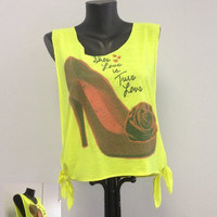Printed Tank - Open Sides- Shoe Love Is True Love