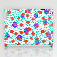 Polka Dot Aqua iPad Case by Amy Sia