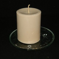 Spicy Cinnamon and Fresh Brewed Coffee Scented Round Pillar Candle