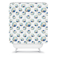 DENY Designs Home Accessories | Madart Inc. Sea of Whimsy Sea Scallop Pattern Shower Curtain