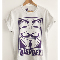 NotGuilty Magazine & Garmshouse — DISOBEY - V for Vendetta/Anonymous tee Grey
