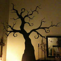 Halloween -  Creepy Tree - Wall Decal - nightmare before christmas