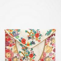 Urban Outfitters - Kimchi Blue Embroidered Lace Crossbody Clutch