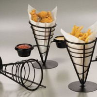 Iron 1-Cone Conical Basket with 2 Ramekins