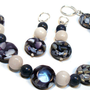 Mother of Pearl and Quartz Gemstones Beaded Bracelet