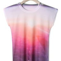 Sunset Print T-shirt