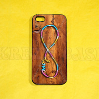 iPhone 5 case, Forever love, Infinity on Vintage wood Print(not a real wood), infinity  iPhone 5 Case, For your iphone 5