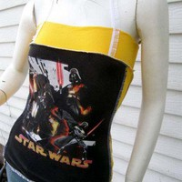 STAR WARS Darth Vader Corset shirt S/M/L DiY Geek punk