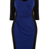 Scarlett and Jo Blue Side Panel Dress - Dresses  - Clothing