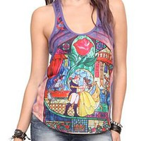 Beauty And The Beast Glass Girls Tank Top - 10007089