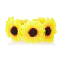 Yellow sunflower bun top hair band - hair accessories - accessories - women