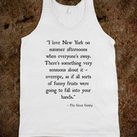 The Great Gatsby quote  -Tank Top