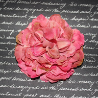 Sweet Dusty Pink Vintage Inspired Flower Hair Clip  - Pinup Rockabilly Hair Clip Accessory