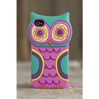 Teal Owl 3D iPhone 4 Cover From Natural Life