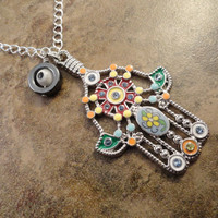 Hamsa Hand Evil Eye Turkish Necklace