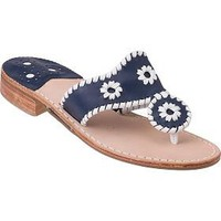 Jack Rogers Navajo Navy / White Trim - Jildor Shoes, Since 1949