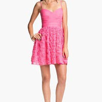 Hailey Logan Rosette Party Dress (Juniors) (Online Exclusive) | Nordstrom