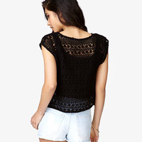 Floral Crocheted Crop Top | FOREVER 21 - 2052287760