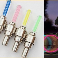 2PCS BLUE LED Flash Tyre Wheel Valve Cap Light for Car Bike bicycle Motorbicycle Wheel Light Tire Light
