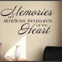 Vinyl Wall Lettering Decal Quote Memories are Treasures