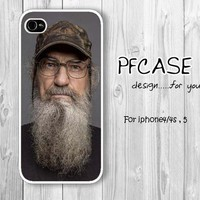 Si Robertson of Duck Dynasty : Handmade case For Iphone 4/4s ,5