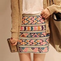 retro OL Woolen cloth skirt