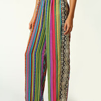 Sabrina Stripe With Aztec Side Band Trousers