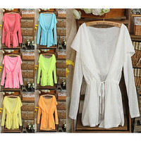 7 Candy Colors Anti UV Blouse Sun Protection Long Sleeve Cardigan Sweater Tops