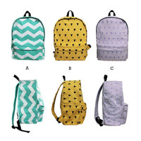 Geometric Canvas Backpack