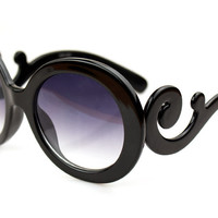 Baroque Style Black Sunglasses