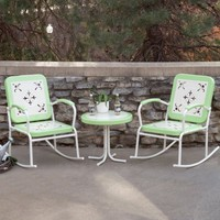 Walmart: Paradise Cove Retro Metal Rocker Chat Set in Green