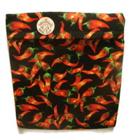 Microwave Potato Bag - Chili Peppers/Black, Red, Green