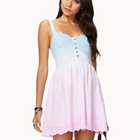 Ombr Eyelet Dress