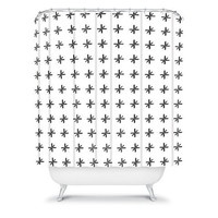 DENY Designs Home Accessories | Wesley Bird Cross Out White Shower Curtain
