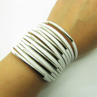 fashion Adjustable soft White leather Woven Bracelets mens bracelet cool bracelet jewelry bracelet bangle bracelet  cuff bracelet 1233S