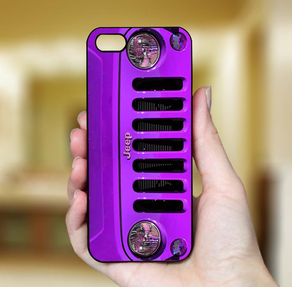 Purple Jeep Wrangler, iPhone Case Cover, from