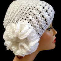 Women's Crochet Flower, Derby Hat.