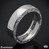 14k White Gold Verragio High Polish Wedding Ring