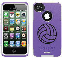 """Volleyball"" Activities design on OtterBox® Commuter Series® Case for iPhone 4 / 4S in Purple"
