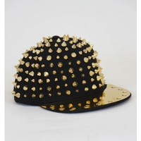 Metallic Spike Cap