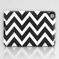 black chevron iPad Case by her art