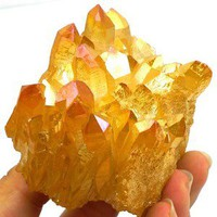 147g AA Grade Aura Sunshine Titnaium Cluster Crystal~
