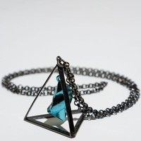 Stylestalker x Luv Aj &#x27;3D Triangle&#x27; Necklace