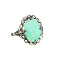 Cathy Waterman: Boulder Opal Scalloped Frame Ring- YLANG|23