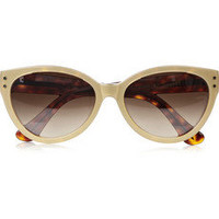 Cutler and Gross | Cat eye metallic acetate sunglasses | NET-A-PORTER.COM